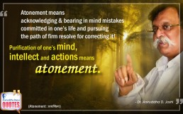 Quote by Dr. Aniruddha Joshi Aniruddha Bapu on Atonement in photo large size