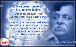 Quote by Dr. Aniruddha Joshi Aniruddha Bapu on Birth Moksha Person Destiny in photo large size