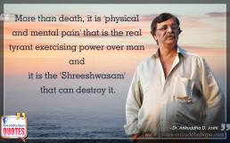 Quote by Dr. Aniruddha Joshi Aniruddha Bapu on death pain in photo large size