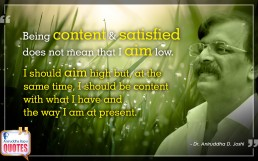Quote by Dr. Aniruddha Joshi Aniruddha Bapu on Content Aim in photo large size