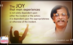Quote by Dr. Aniruddha Joshi Aniruddha Bapu on Joy in photo large size