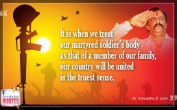 Quote by Dr. Aniruddha Joshi Aniruddha Bapu on Soldier in photo large size