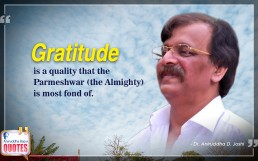 Quote by Dr. Aniruddha Joshi Aniruddha Bapu on Gratitude Parmeshwar in photo large size