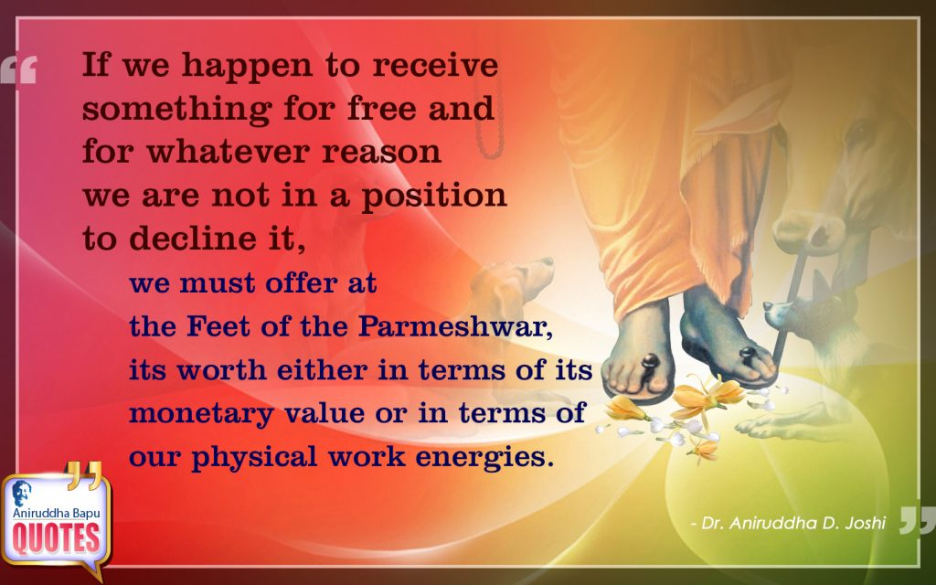 Quote by Dr. Aniruddha Joshi Aniruddha Bapu on Work Value in photo large size
