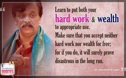Quote by Dr. Aniruddha Joshi Aniruddha Bapu on Hard Work Wealth in photo large size