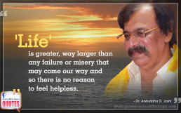 Quote by Dr. Aniruddha Joshi Aniruddha Bapu on Life Failure Misery in photo large size