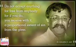 Quote by Dr. Aniruddha Joshi Aniruddha Bapu on free sin in photo large size