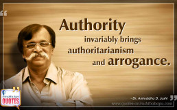 Quote by Dr. Aniruddha Joshi on Authority in photo large size