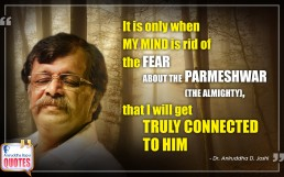 Quote by Dr. Aniruddha Joshi Aniruddha Bapu on Fear Parmeshwar Mind in photo large size