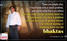 Quote by Dr. Aniruddha Joshi Aniruddha Bapu on Bhakta in photo large size