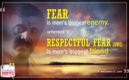 Quote by Dr. Aniruddha Joshi Aniruddha Bapu on Fear Awe in photo large size