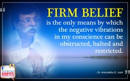 Quote by Dr. Aniruddha Joshi Aniruddha Bapu Firm Belief in photo large size