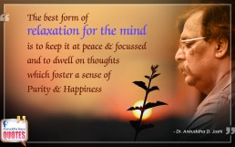 Quote by Dr. Aniruddha Joshi Aniruddha Bapu on Mind Purity Happiness
