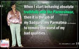 Quote by Dr. Aniruddha Joshi Aniruddha Bapu on Parmeshwar Sadguru in photo large size
