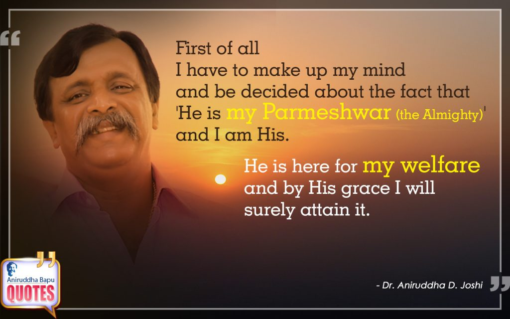 Quote by Dr. Aniruddha Joshi Aniruddha Bapu on welfare grace in photo large size