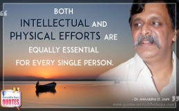 Quote by Dr. Aniruddha Joshi on Hard Work in photo large size