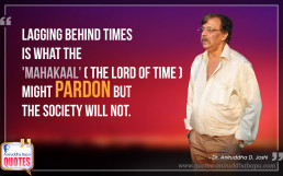 Quote by Dr. Aniruddha Joshi on importance of time in photo large size
